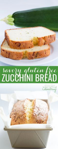 This savory gluten free zucchini bread is made with flour, oil, yogurt, eggs, zucchini and cheese. Celebrate summer's bounty with this simple, delicious recipe!
