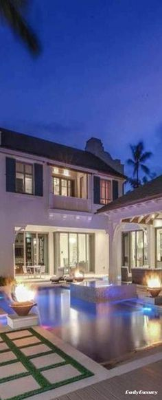 Luxury Beach Home- Outdoor Rooms, Outdoor Living, Outdoor Ideas, Multi Million Dollar Homes, Beach Bungalows, Expensive Houses, House Goals, Coastal Living, Luxury Lifestyle