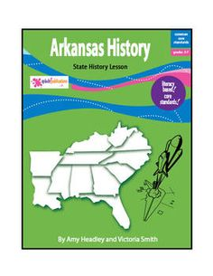 Arkansas History is a literacy-based lesson aligned with the Common Core Standards.    This 29-page lesson teaches about the state's first people, famous explorers, early government, important battles and wars in Arkansas, and the journey to statehood.    After reading about Arkansas, students will:  answer Reading Comprehension questions, complete a Language Skills activity, use a graphic organizer to write a paragraph about the history of Arkansas, and take a Vocabulary Quiz.