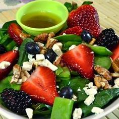 Sugar Snap Pea and Berry Salad, photo by *Sherri*
