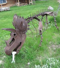recycled art. Ridiculously cool.