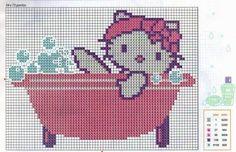 Resultado de imagen para ponto cruz para bebe toalha de banho