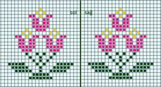 This Pin was discovered by luz Cross Stitch Patterns Free Easy, Cross Stitch Borders, Cross Stitch Designs, Cross Stitching, Cross Stitch Tree, Cross Stitch Flowers, Knitted Mittens Pattern, Bead Loom Patterns, Tapestry Crochet