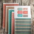 Printable gift wrap and gift tags by Lia Griffith via How About Orange