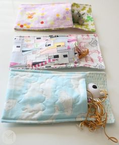 Easy Toy Sleeping Bag Sewing Tutorial. Beginner Friendly, uses tiny amount of fabric and an hour to make a set!