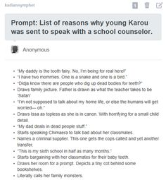 Lol! About Karou from Daughter of Smoke and Bone series