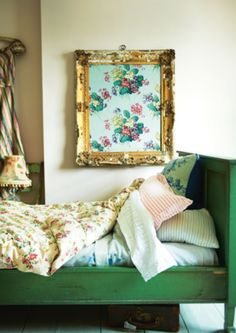 Eiderdowns and blankets, featured in Vintage Home by Sarah Moore, photography by Debi Treloar published by Kyle Books -★-