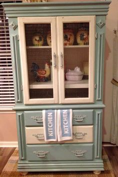 Furniture flippers got an old tv cabinet well we turned ours into gorgeous blue and country white kitchen hutch diy chalk painted distressed and waxed upcycled farmhouse hutch from entertainment center the rusty nail solutioingenieria Choice Image