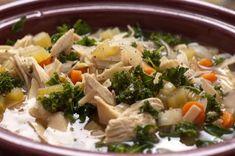 Crockpot Chicken Kale Soup....
