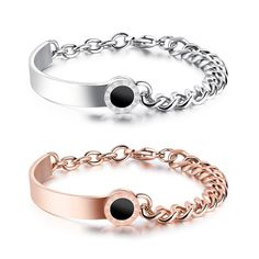 d74eb3bbdad YA Luxury Brand Jewelry Sliver Rose Gold Stainless Steel Bracelets &  Bangles Women Classic Rome Number Bracelet For Girl Charm