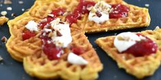 kokosvafler-002 Waffles, Breakfast, Food, Morning Coffee, Waffle, Meals, Yemek, Eten