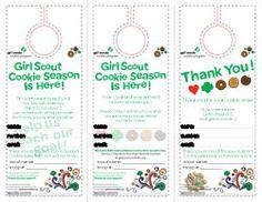 Girl Scout Cookie Door Hangers 2014, modifiedmotherhood.com, Jennifer Johnpoll, tenohfour.com