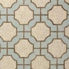 Wallpaper - Imperial Gates Dove - Phillip Jeffries - dove, blue, taupe, linen, geometric, wallpaper,
