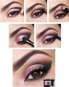 Kveldsminke for brune øyne i brune og rosa farger - Lilly is Love Gold Eye Makeup, Simple Eye Makeup, Makeup For Brown Eyes, Eyeshadow Makeup, Makeup 101, Beauty Makeup, Hair Makeup, Makeup Ideas, Dramatic Wedding Makeup