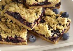 Blueberry Cornmeal Crumble Bars