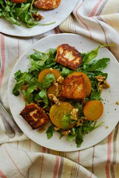 Golden Beet, Halloumi, and Walnut Salad   Things I Made Today