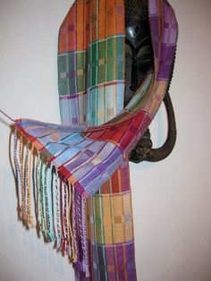 Handwoven Twill Silk Scarf by tisserande, via Flickr