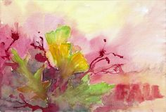 Herbst / Autumn / Otoño / Automne / 秋季 Painting, Watercolor Painting, Water Colors, Painting Art, Paintings, Painted Canvas, Drawings