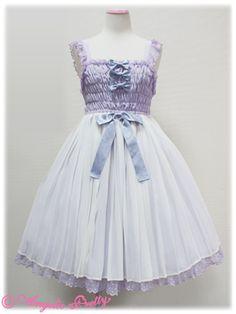 Angelic Pretty - Lady Pleats JSK /// ¥24,990 /// Bust: 72~100cm Waist: 64~94cm Length: 84cm + 2cm lace