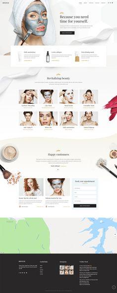 Portfolio Website Design, Website Design Layout, Website Design Inspiration, Spa Website, Website Ideas, Makeup Artist Website, Mobile Hair Salon, Sites Layout, Design Sites