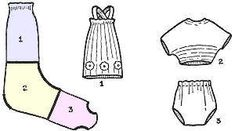 Doll clothes from socks.