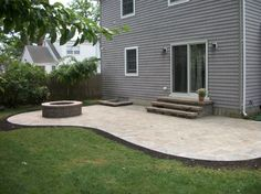 concrete patio designs with fire pit ~ http://lanewstalk.com ... - Concrete Patio Designs With Fire Pit