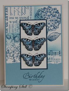 Butterfly card. So much inspiration on her blog...