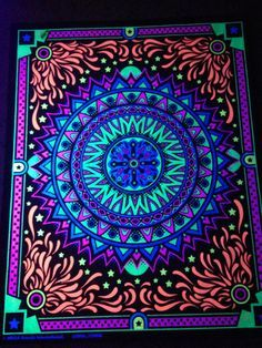 Image result for black light mandala