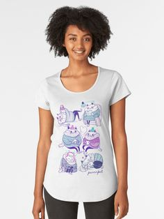 'Medieval Demons Conclave (original ink drawing by AliceCCI)' Premium Scoop T-Shirt by VanyssaGraphics My T Shirt, V Neck T Shirt, Shirt Print, Vintage T-shirts, Unisex, Tshirt Colors, Chiffon Tops, Sleeveless Tops, Female Models