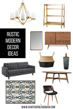 Loving this Rustic Modern Decor Ideas. I can totally see some of these in my home.