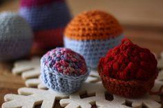 cupcake and raspberrie tart #amigurumi