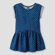 Baby Girls' Casual Elevated Dress Indigo - Cat & Jack™