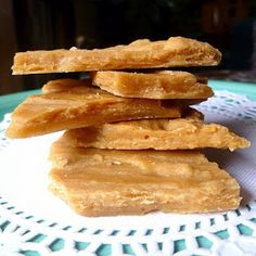 Peanut butter shale - like peanut brittle, but made with peanut butter instead of whole nuts - similar to the inside of a Butterfingers bar.