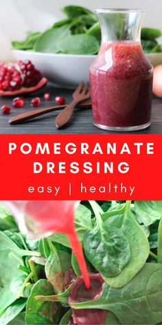 Pomegranate Recipes Healthy, Pomegranate Vinaigrette, Vinaigrette Salad Dressing, Salad Dressings, Gluten Free Salad Dressing, Salad Dressing Recipes, Clean Eating, Healthy Eating, Salads