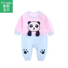 0f73366789ec Newborn Panda Baby Girl Rompers Infant Romper Baby Clothes For Girls  Toddler Jumpsuit Baby Long Sleeve