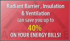 If you would like to make a residential structure more energy efficient then, radiant barriers is the way to go! Being one of the excellent upgrades, they perform at a consistent level irrespective of the humidity. Radiant Barrier, Home Insulation, Energy Bill, Energy Efficiency, Peace Of Mind, Attic, Save Yourself, Loft Room, Energy Conservation