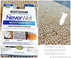 spray on outdoor rugs for a water repelant