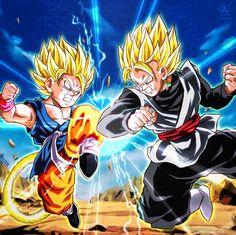 Goku GT vs Goku Black by NARUTO999-BY-ROKER