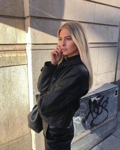 The Short PU Jacket by NA-KD Trend features buttons down the front, a button detail at each cuff, a one pocket design, and a leather material. Pu Jacket, Leather Jacket, Leather Material, Winter Wardrobe, Latest Fashion Trends, Winter Jackets, Black Jackets, Preppy, Girly