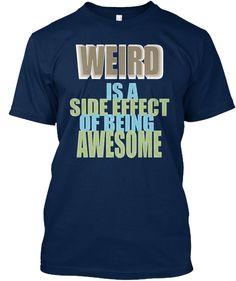 Weird T Shirt  Navy T-Shirt Front