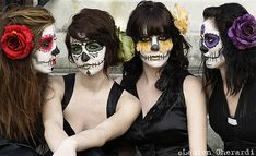 Calaca/Calavera face paint #halloween