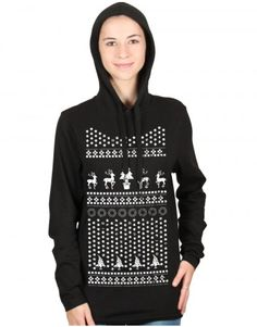 Christmas: Christmas Pattern T-shirt Hoodie (Toodie). Shop Christmas designs at www.firetrend.co.uk #christmas #christmasjumper #firetrend #hoodie #toodie Mens Christmas T Shirts, Christmas Jumpers, Jumper Designs, Shops, College Fashion, Hoodies, Sweatshirts, Neck T Shirt, Graphic Sweatshirt