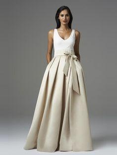 A-Line/Princess Satin Sleeveless Floor-Length V-neck Wedding Dresses