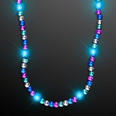 | Turquoise Light Up LED Bead Necklace |