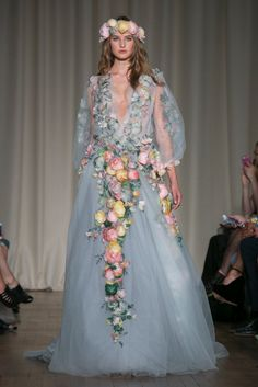 A look from the Marchesa Spring 2015 RTW collection.