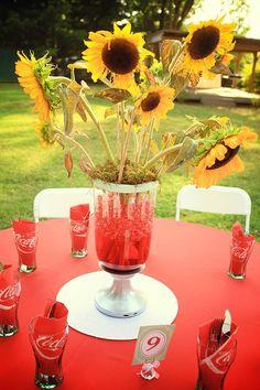 Coca-Cola Party Ideas | Party Ideas / Vintage Coca Cola Wedding: Chelsea & Daniel