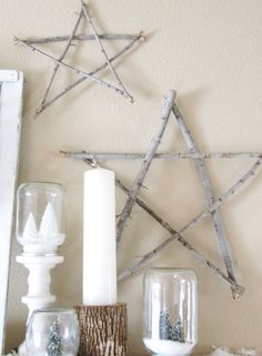The Wicker House: How to Make Stick Stars