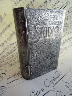 Metal etched Book using new Studio polymer stamp plate - Jen Crossley www.amarkintime.blogspot.com.au