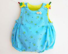 ❤❀ A Happy FROG Bubble Romper for a happy baby! For BABIES newborn up to 12 months ❀❤