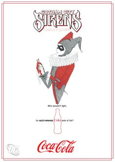 Posters for a Ltd Edition Coka Cola Ad Campaign by em-i featuring Harley Quinn
